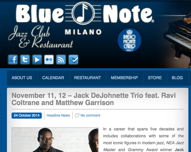 Two nights @Blue Note Milano