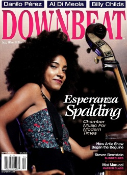Esperanza Spalding is Featured on the cover of DownBeat's September issue